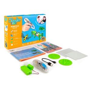 3D Pen 3Doodler Start for children's creativity - ROBOTECHNICS (96 strands, 2 patterns, accessories)