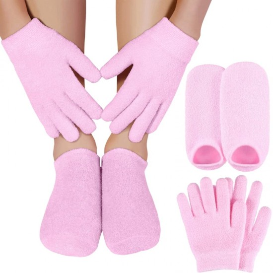 Women's gel Spa socks, 1 pair, hand mask, moisturizing, reusable, SPA hand care, 3677, Subology,  Health and beauty. All for beauty salons,All for a manicure ,Subology, buy with worldwide shipping
