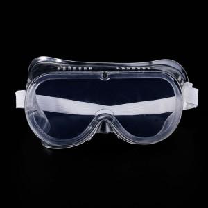 Защитные очки, прозрачные, плотно прилегающие, силиконовые, с вентиляционными отверстиями