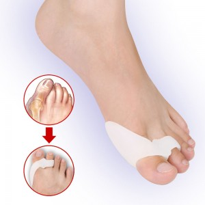 Bursoprotector for two toes with an inter-finger partition and an additional ring