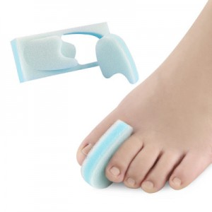 Foam padded corrector toe separator flat