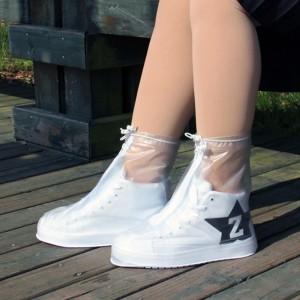 Водонепроницаемые чехлы на обувь от дождя размер M белый 36-37 размер