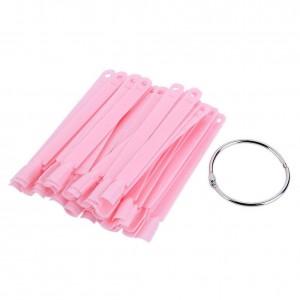Палитра веер, розовая, Типсы розовые, на кольце, веер, 10 см, 50 шт, для образцов, для лаков, для ногтей