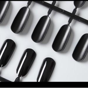 Типсы отрывные,  черные, типсы для книги,альбома, палитра с отрывными типсами, 24 искуственных ногтя, 5 палитр, 120 дизайнов
