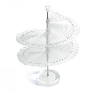 Палитра на подставке серпантин, елочка, спираль, на ноге, 120 шт, для образцов, для лаков, для ногтей, для дизайна
