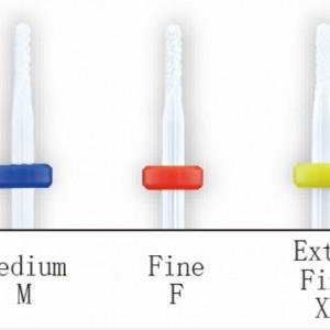 керамическая насадка закругленная игла красная, для маникюра и педикюра, для боковых валиков