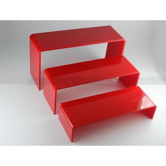 Acrylic part-time, 3 pcs, organizer, shelf, for cosmetics, display for goods, for gel polish, for decor, for rubbing купить в Украине