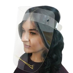 Защитный экран для защиты лица, маска, прозрачный, для мастеров, продавцов, с резинкой
