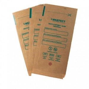 Kraft packages, universal, for all types of sterilization, 100x200, self-adhesive