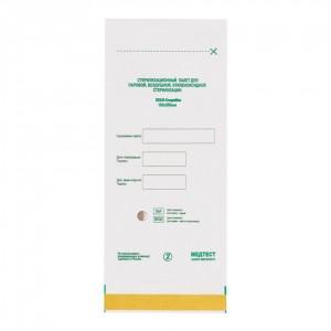 Крафт пакеты белые, 100х200, Медтест, СтериМаг, с индикатором, упаковка, 100 шт, для стерилизации, универсальные