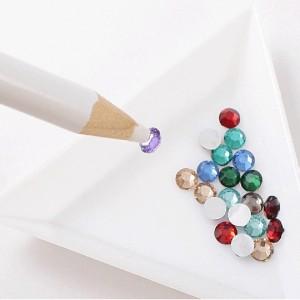 карандаш для страз, восковой карандаш для захвата страз, мелких декоров, украшений, белый