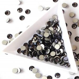 Камни для ногтей, стразы, Svarowski Black Diamand, SS4, Черный Бриллиант, Стекло, Черная икра, камни, декор, ногти, 1600 шт
