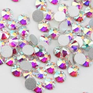Стразы для ногтей AB Crystal SS4, Silver , хамилион, люкс, блеск, камни, декор, сваровски, кристалл, серебро, стекло, no hot fix, клеевые