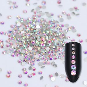 Стразы для ногтей AB Crystal SS5, стекло, Silver, хамелеон, люкс, блеск, камни, декор, сваровски, no hot fix
