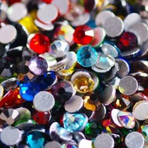 стразы Swarovski Crystals цветные, камень, стекло, кристалл, разноцветные, SS3