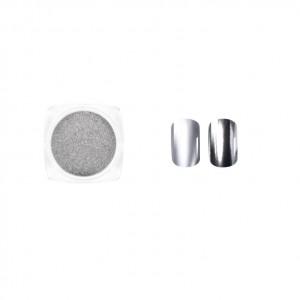 Втирка для ногтей, Серебро, металлик, Silver metallic, Виктория Винн, Victoria Vynn, no 15, 2гр, dust effect