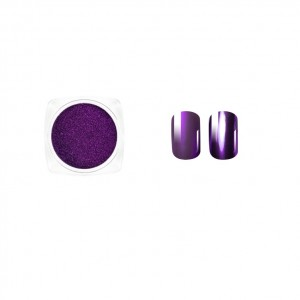 Втирка для ногтей, Пурпурный металлик, metallic dust purple, Виктория Винн, Victoria Vynn, no 21, 2гр, dust effect