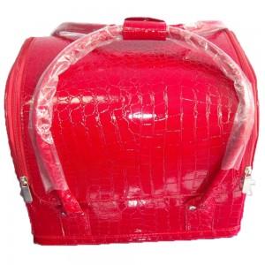 Сумка органайзер большая, для мастера маникюра, парикмахера, визажиста, красная
