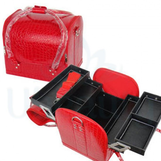 Bag organizer big, for manicurist, hairdresser, makeup artist, red купить в Украине