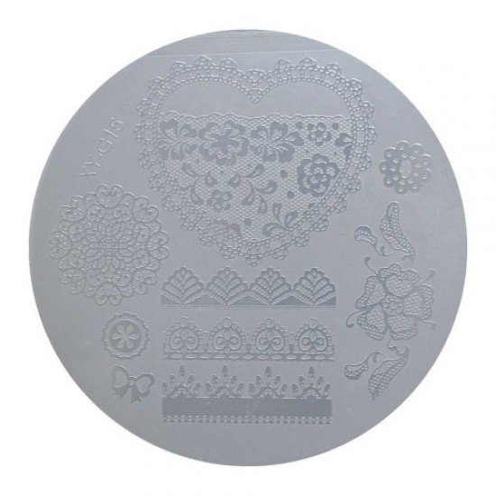 Round plastic stamping disc XY-G15, 58694, Nails,  Health and beauty. All for beauty salons,All for a manicure ,Nails, buy with worldwide shipping