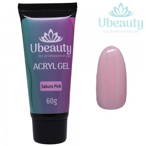 Acrylic gel UBEAUTY, Sakura Pink / Pink (Sakura). 60 ml tube
