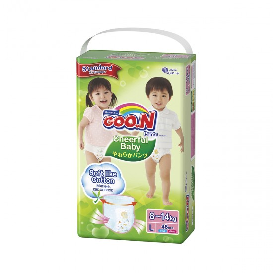 Panties-Diapers Cheerful Baby For Children (L, 8-14 Kg, 48 PCs), 41488, Moms,  Toys,Moms ,  buy with worldwide shipping
