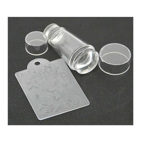 Silicone stamp for stamping (transparent/round/double-sided), 58640, Nails,  Health and beauty. All for beauty salons,All for a manicure ,Nails, buy with worldwide shipping