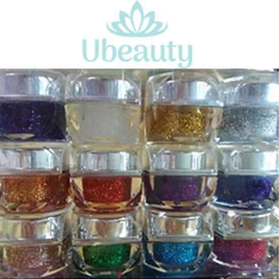 A set of 5 ml glitter gels, Ubeauty-GP-07, Gel varnishes,  All for a manicure,Gel varnishes ,  buy with worldwide shipping