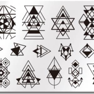 Пластина для стемпинга Геометрия-пирамиды, BP-L054