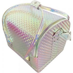 Маникюрный чемодан из экокожи 25*30*24 см РЕБРИСТЫЙ ХАМЕЛЕОН ,MAS1150