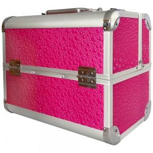 Металлический маникюрный чемодан 25*32*21 см. РОЗОВЫЙ СТРАУС ,KOD1500