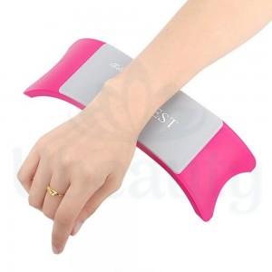 Коврик с подставкой для рук 400х300 мм, ярко-розовый, arm rest, силиконовый, хорошее качество