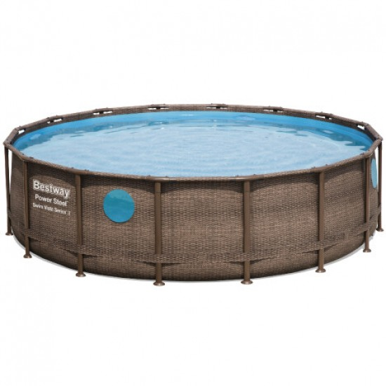 Frame pool Bestway rattan 56725 (488x122) with cartridge filter, 952728219, Pools,  Network engineering,All pool ,Swimming pools and accessories, buy with worldwide shipping