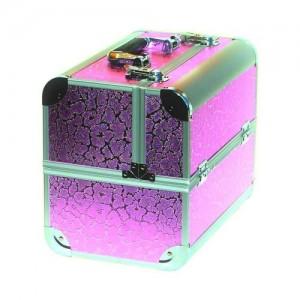 Чемодан-кейс алюминиевый 2629 розовое сияние