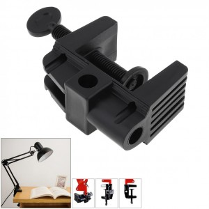 clamp for table lamp, plastic, black