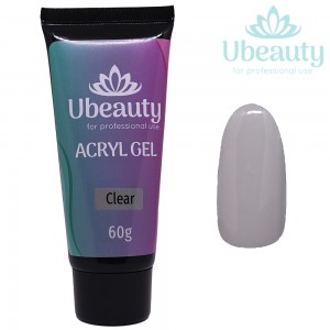 Acrylic gel UBEAUTY, Clear / Transparent, tube 60 ml