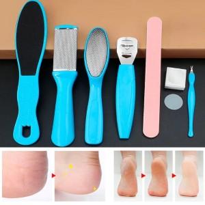 Набор для педикюра 8 шт, терки, пилочка, нож для заусениц, нож для мозолей, лезвия,