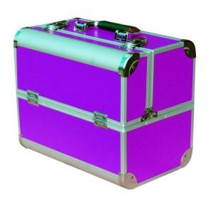 Чемодан-кейс алюминиевый 2629 фиолетовый матовый