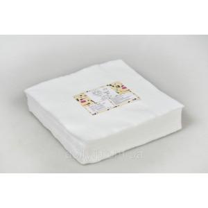 Салфетки в пачке Panni Mlada® 20х20 см (100 шт/пач) из спанлейса 40 г/м? Текстура: гладкая, сетка, смаил/sma
