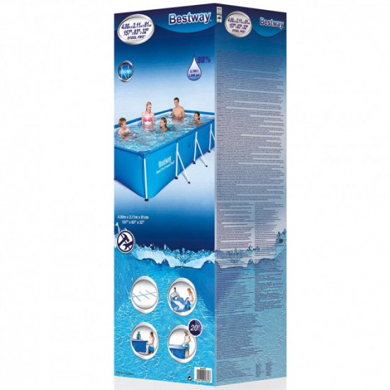 Frame pool Bestway 56405 (400x211x81), 952728259, Pools,  Network engineering,All pool ,Swimming pools and accessories, buy with worldwide shipping