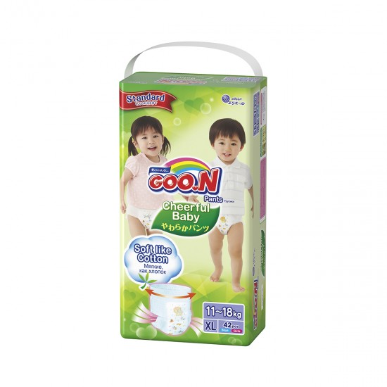 Panties-Diapers Cheerful Baby For Children (Xl, 11-18 Kg, 42 PCs), 41490, Moms,  Toys,Moms ,  buy with worldwide shipping