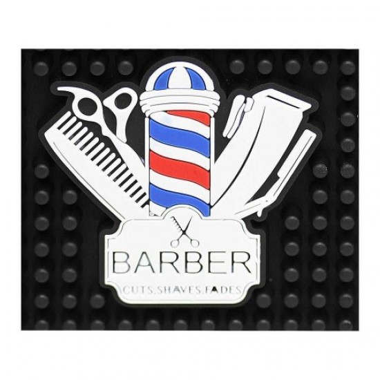 Rubber Mat Barber L-16 (30*15cm), 58514, Hairdressers,  Health and beauty. All for beauty salons,All for hairdressers ,Hairdressers, buy with worldwide shipping