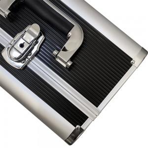Металлический маникюрный чемодан 25*32*21 см ЧЕРНЫЙ ,KOD1500