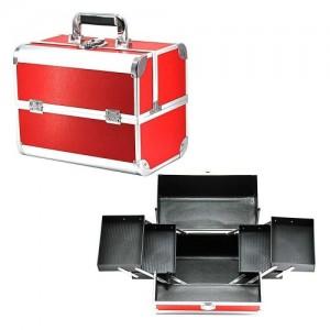 Чемодан-кейс алюминиевый 2629 красный матовый