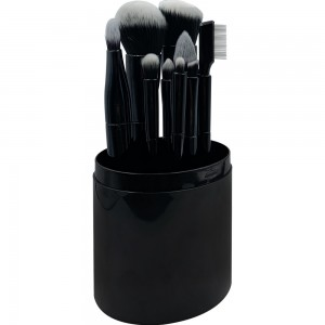 A great option for a gift. Set of 10 professional makeup brushes In a dark translucent container, MIS890