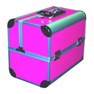 Чемодан-кейс алюминиевый 2629 розовый матовый