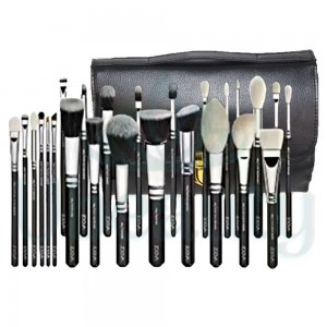 A set of makeup brushes in your purse