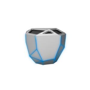 Акустика Xoopar - Geo Speaker (Серебристая С Синей Led-Подсветкой,Bluetooth,Моно)