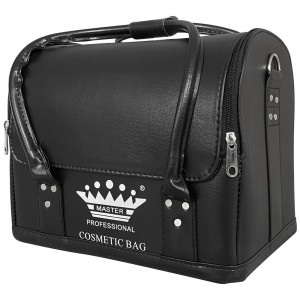 Маникюрный чемодан MASTER professional из экокожи 25*30*24 см ЧЕРНЫЙ ,MAS1150