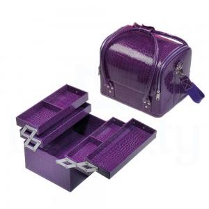 Сумка органайзер большая, для мастера маникюра, парикмахера, визажиста, лак, фиолетовая